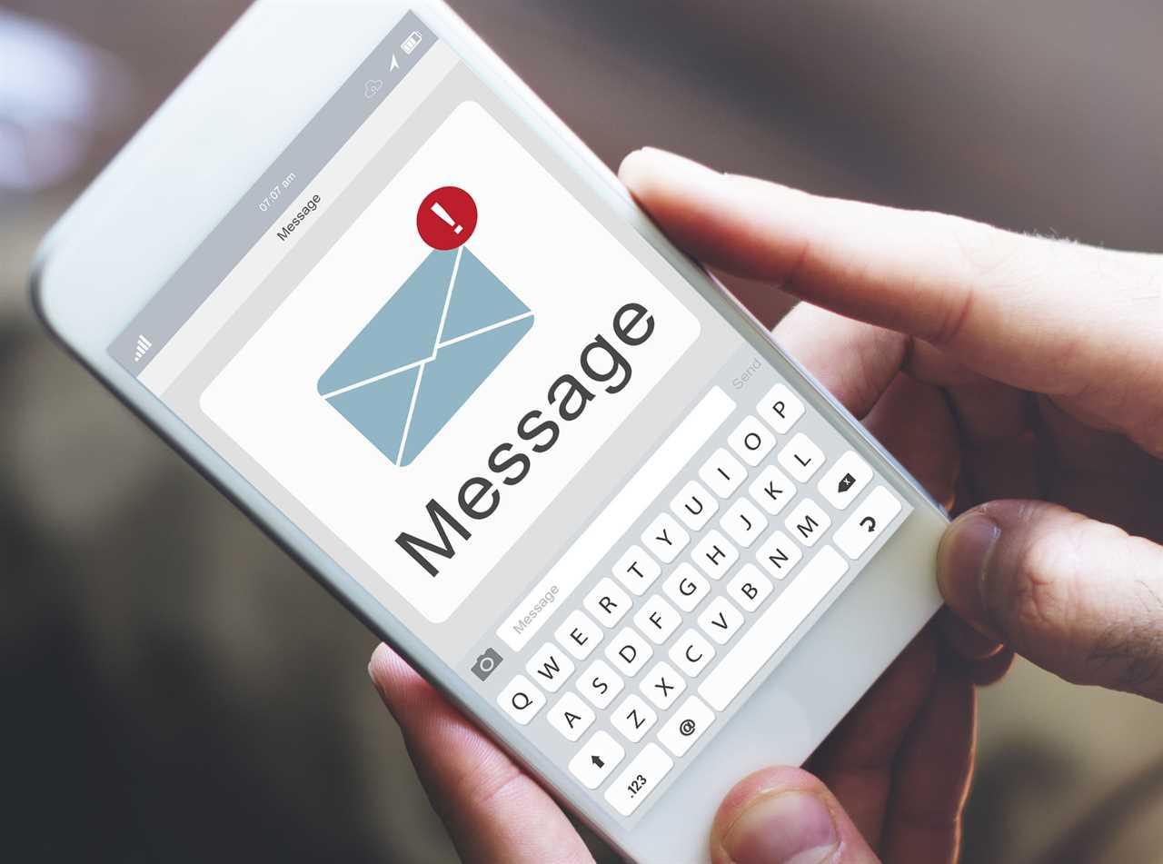 low patient volumes text alert